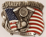 Harley Davidson Solid Brass Belt Buckle. Code HD-89